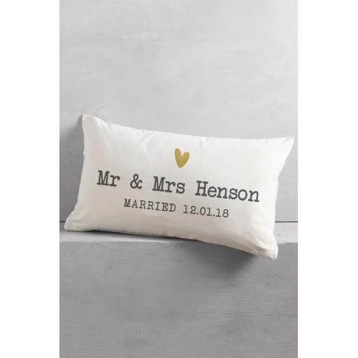 Mr & Mrs Rectangle Cushion