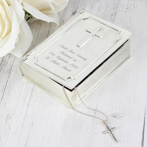 Engraved Bible Trinket Box