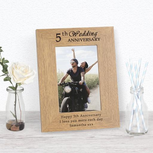 5th Anniversary Photo Frame