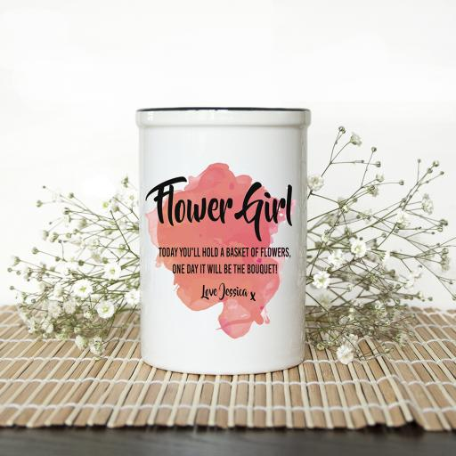 Personalised Flower Girl Vase