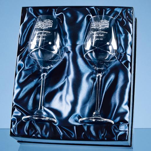 Diamante Wine Glasses Gift Set
