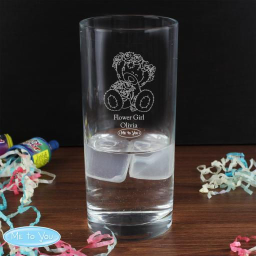 Engraved Me To You Wedding Female Hi Ball Glass