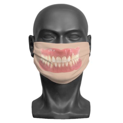 False Teeth Adult Face Mask