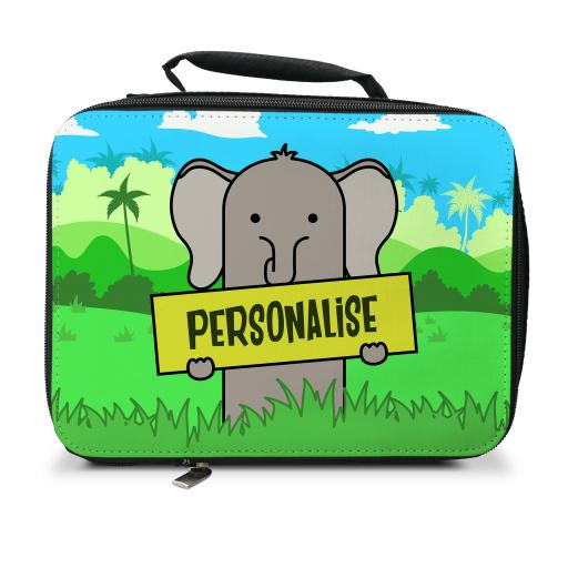 Kids Elephant Insulated Lunch Bag