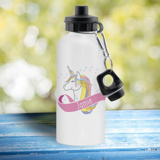 Unicorn Heart White Drinks Bottle