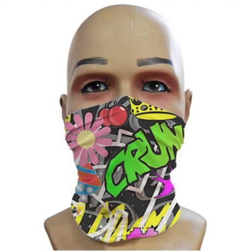 Acid Graffiti - Black - Mini Snood