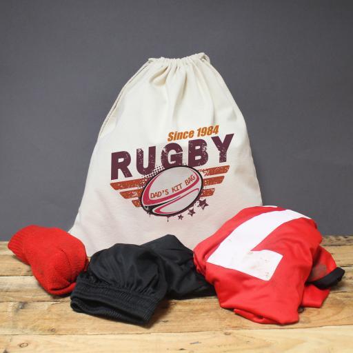 Maroon Rugby Drawstring Kit Bag