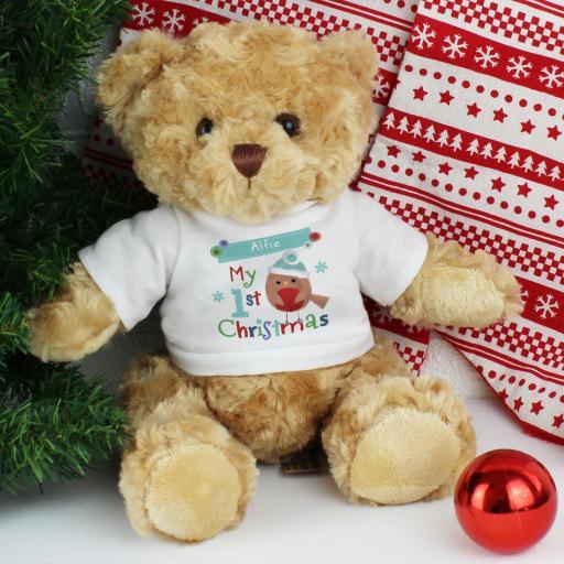 Felt Stitch Robin 'My 1st Christmas' Teddy