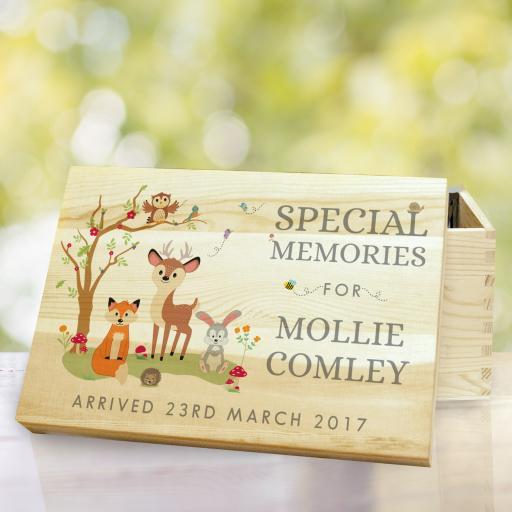 Woodland Wooden Memory Box