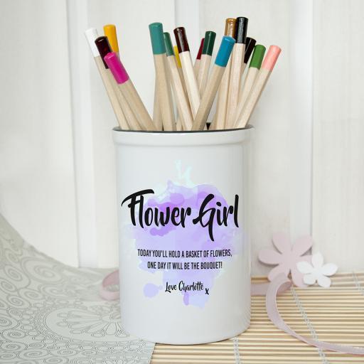 Personalised Flower Girl Vase - Purple