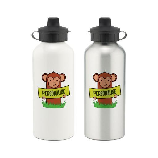 Kids Monkey Aluminium Water Bottle