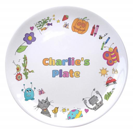 Cartoon Character Childrens Plate