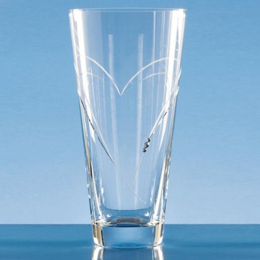 Diamante Vase with Heart Shaped Cutting