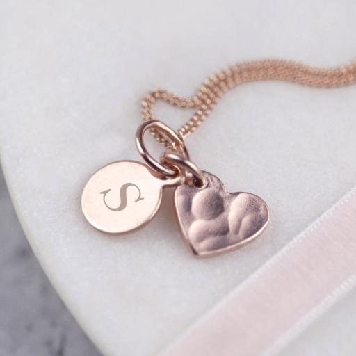 Heart and Personalised Pendant Necklace