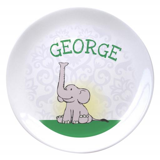 Baby Boy Elephant Bone China Coupe Plate