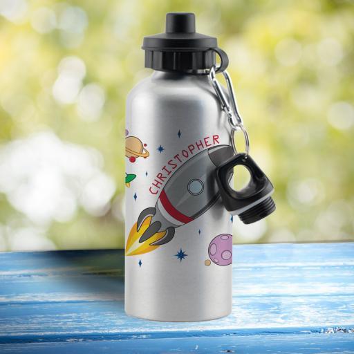 Space Rocket Drinks Bottle