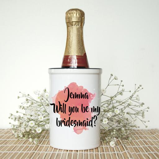 Be My Bridesmaid Champagne Bucket