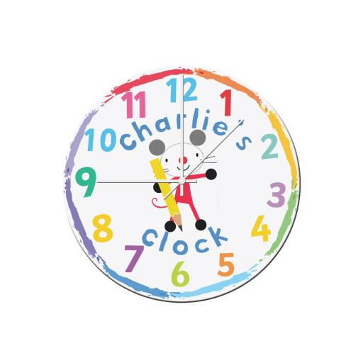Arty Mouse Glass Clock