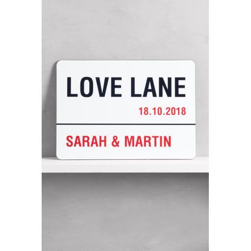 Love Lane Sign