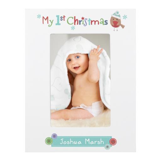 Felt Stitch Robin My 1st Christmas Frame