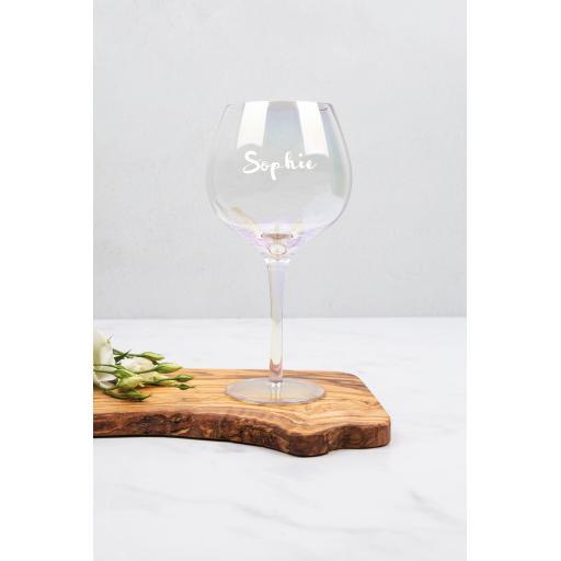 Iridescent Gin Glass