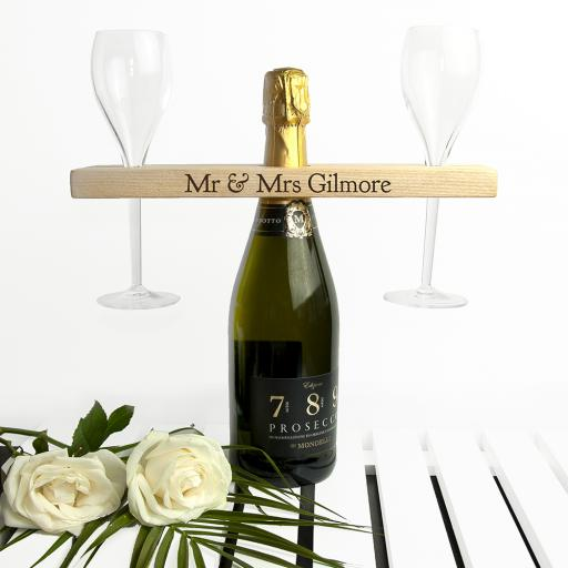Personalised Welsh Ash Champagne Holder
