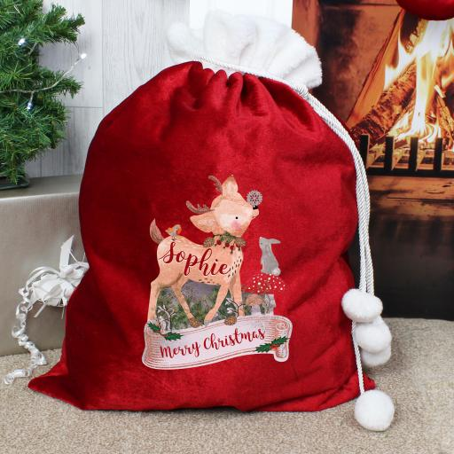Festive Fawn Luxury Sack