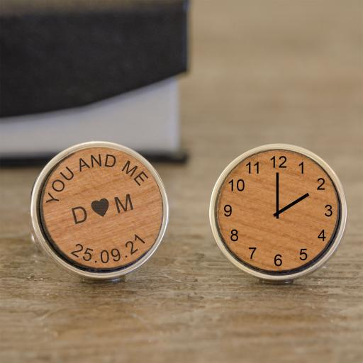 You and Me Time Cufflinks