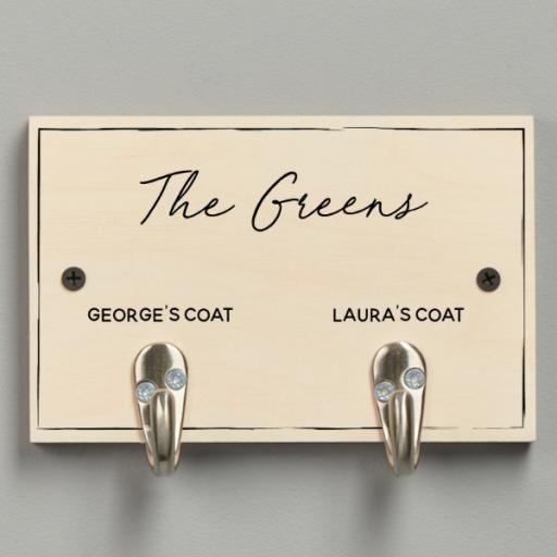 Personalised Coat Hooks