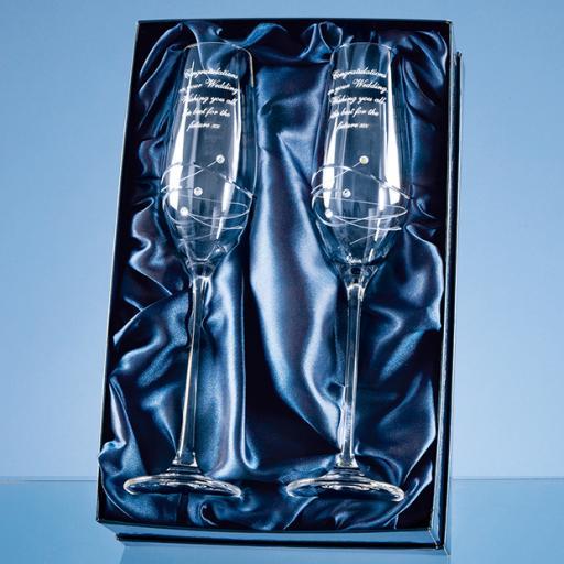 Diamante Champagne Flutes Gift Set