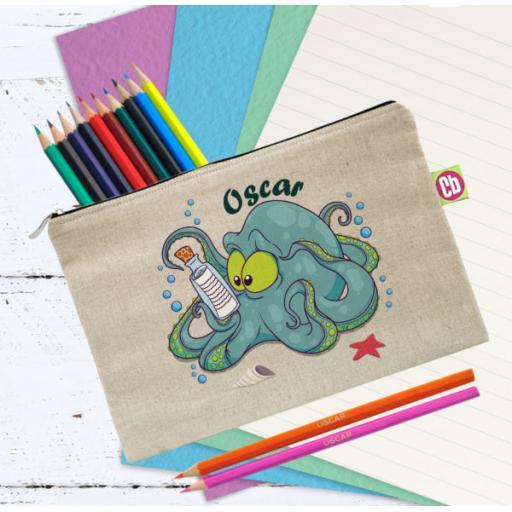 Underwater Adventure Octopus Pencil Case and Pencils