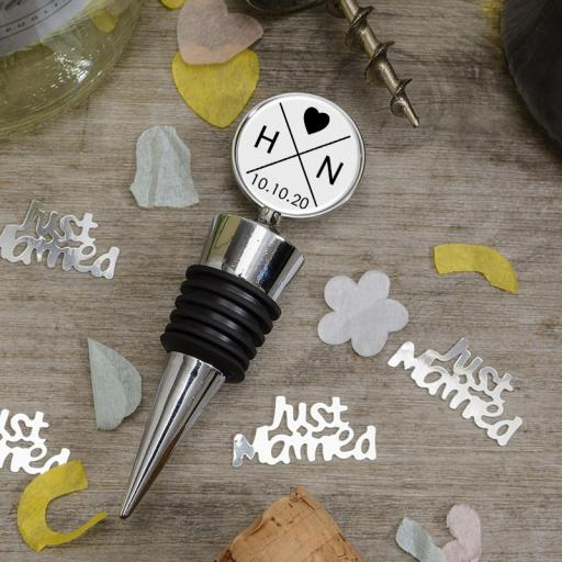 Initials & Date Bottle Stopper