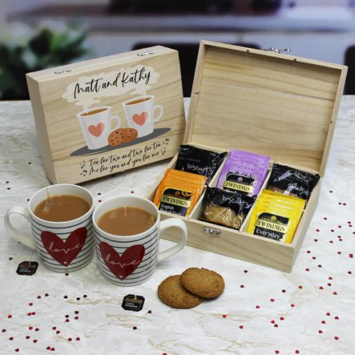 Tea for Two - Tea and Biscuits Storage Box