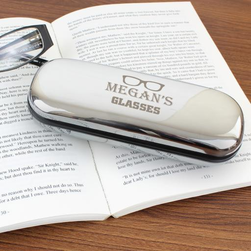Glasses Motif Engraved Case