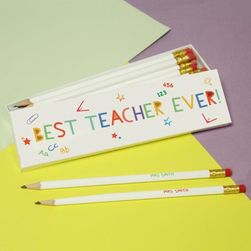 Best Teacher Ever Pencils & Box