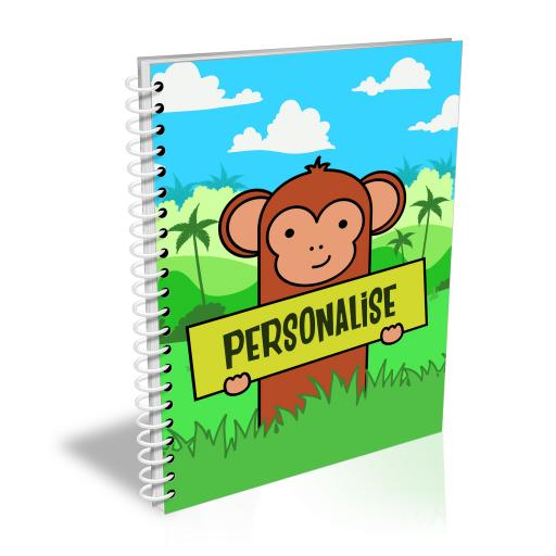 Kids Monkey A5 Lined Notepad