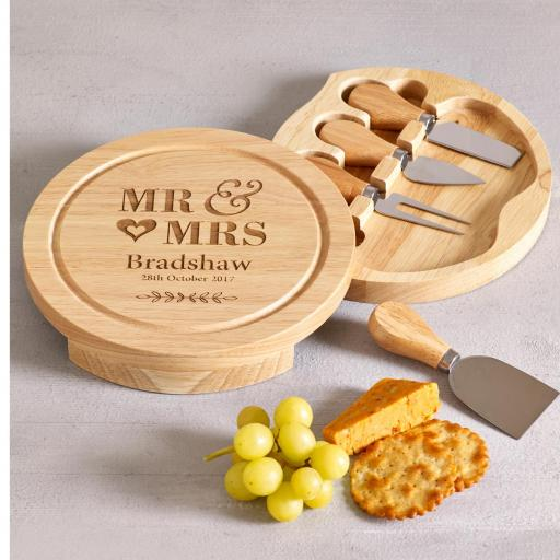 Mr & Mrs Round Cheese Board