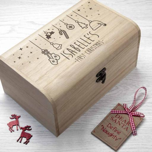 Personalised Baby's First Christmas Eve Box - Small
