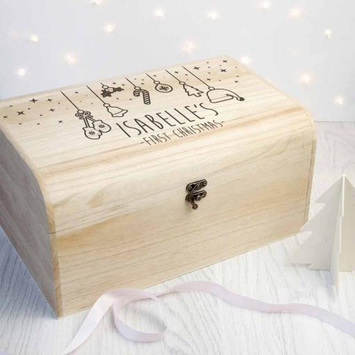 Personalised Baby's First Christmas Eve Box - Large