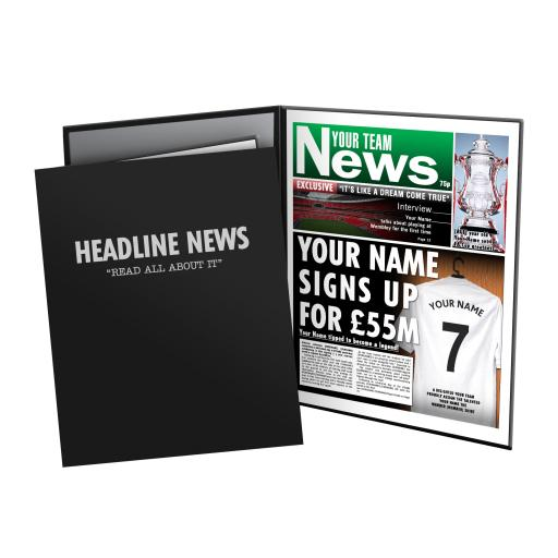 Football Newspaper Print - Presentation Folder