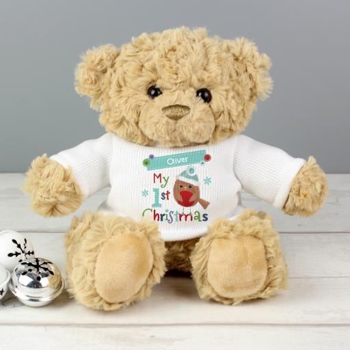 Personalised 'My 1st Christmas' Teddy Bear