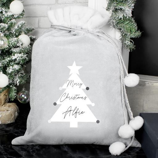 Personalised Christmas Tree Luxury Sack
