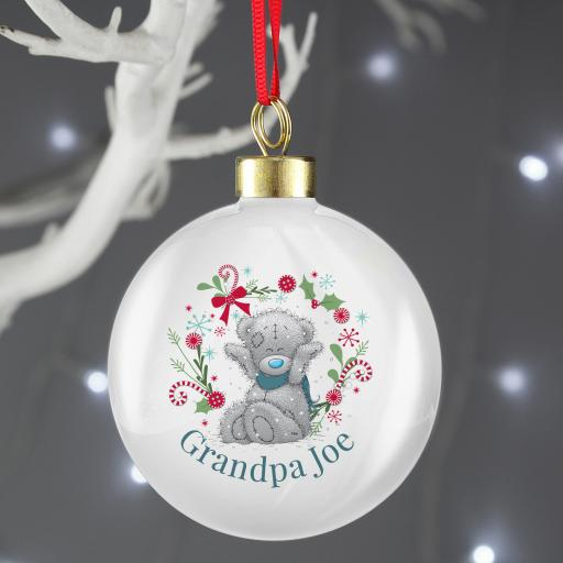 Personalised Me To You For Him Christmas Bauble