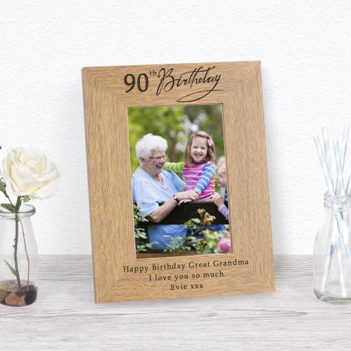 90th Birthday Photo Frame