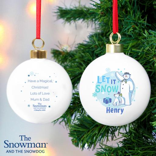 The Snowman and the Snowdog Personalised Bauble