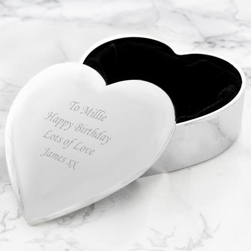 Personalised Heart Trinket Box