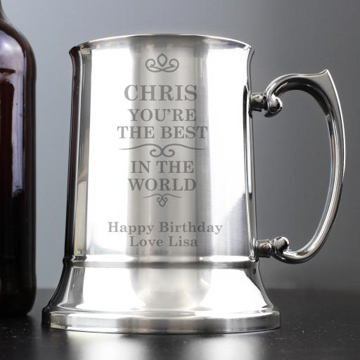 Personalised Best in the World Tankard