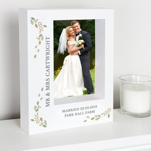 Personalised Fresh Botanical Box Photo Frame