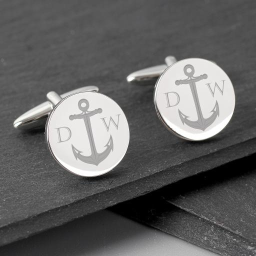 Personalised Anchor Cufflinks