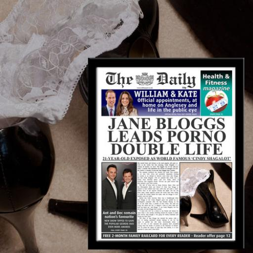 The Daily Female Pornstar News Print Frame